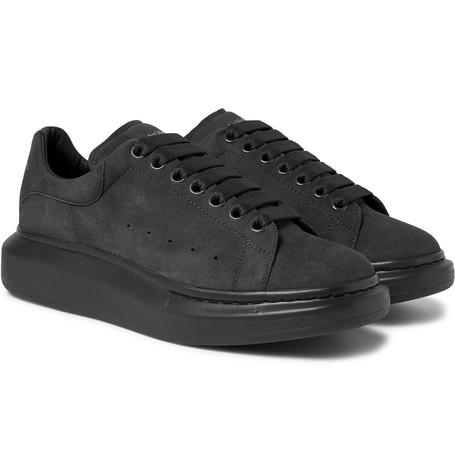 Alexander Mcqueen Men's Larry Tonal Suede Trainer Sneakers In Grey