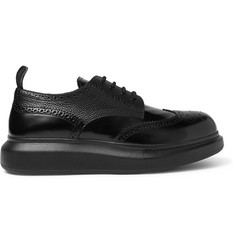 Alexander McQueen Exaggerated-Sole Spazzolato Leather Brogues