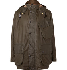 Barbour White Label + Margaret Howell Waxed-Cotton Hooded Jacket