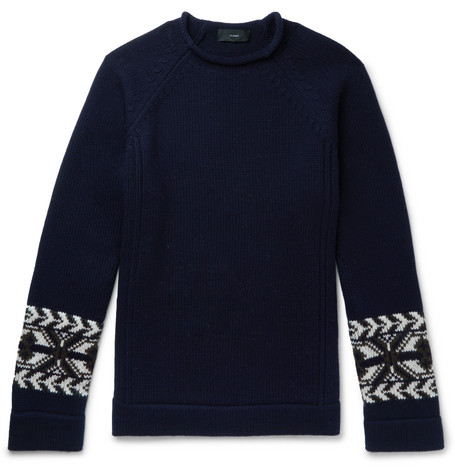 Alanui Cashmere And Wool-Blend Jacquard Sweater