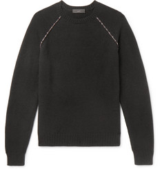 Alanui Slim-Fit Embroidered Cashmere Sweater