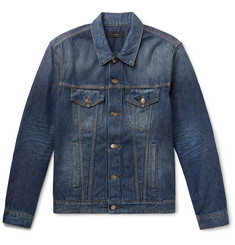 Alanui Intarsia Wool Blend-Panelled Denim Jacket