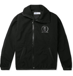 AFFIX Logo-Print Polar Fleece Zip-Up Jacket