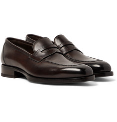TOM FORD Wessex Polished-Leather Penny Loafers