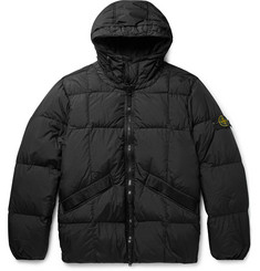 Stone Island Logo-Appliquéd Quilted Nylon Hooded Down Jacket
