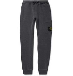 Stone Island Slim-Fit Tapered Logo-Appliquéd Garment-Dyed Loopback Cotton-Jersey Sweatpants