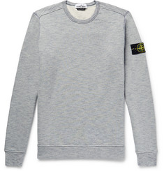 Stone Island Mélange Fleece-Back Cotton-Jersey Sweatshirt