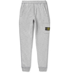 Stone Island Slim-Fit Logo-Appliquéd Fleece-Back Cotton-Jersey Sweatpants