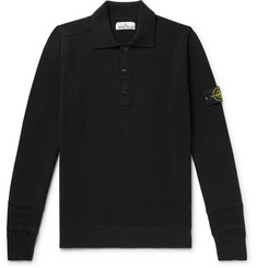 Stone Island Wool-Blend Polo Shirt