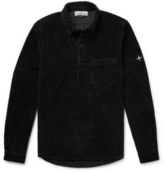 Stone Island Cotton-Corduroy Half-Placket Shirt