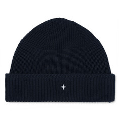 Stone Island - Logo-Embroidered Ribbed Virgin Wool Beanie