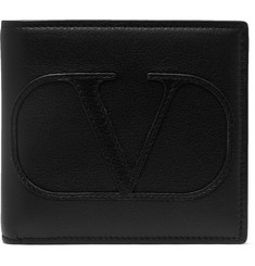 Valentino - Valentino Garavani Logo-Appliquéd Leather Billfold Wallet