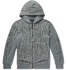 Stone Island Shadow Project Cotton-Blend Jacquard Fleece Jacket