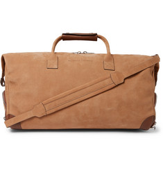 Brunello Cucinelli - Leather-Trimmed Nubuck Holdall