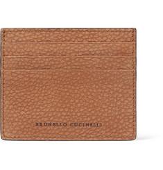 Full-grain Nubuck Cardholder - Brown