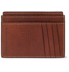 Brunello Cucinelli Full-Grain Leather Cardholder