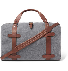 Brunello Cucinelli - Leather-Trimmed Wool Holdall