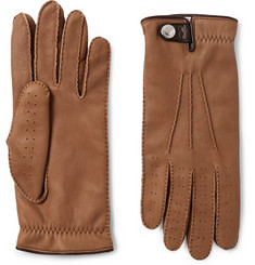 Brunello Cucinelli - Shearling-Lined Leather Gloves