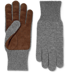 Brunello Cucinelli - Suede-Panelled Cashmere Gloves