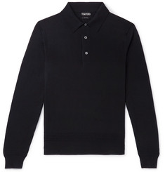 TOM FORD Slim-Fit Cashmere and Silk-Blend Polo Shirt
