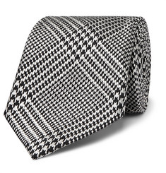 TOM FORD 8.5cm Houndstooth Silk and Wool-Blend Tie