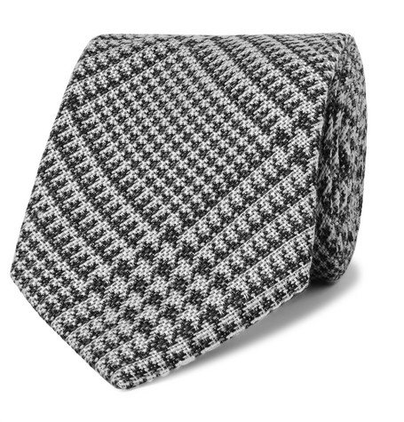 TOM FORD 8.5cm Prince of Wales Checked Wool and Silk-Blend Tie