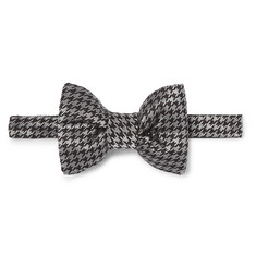 TOM FORD Pre-Tied Houndstooth Silk-Blend Bow Tie