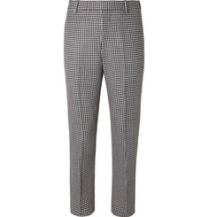 Alexander McQueen Slim-Fit Houndstooth Virgin Wool Trousers