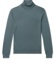 Ermenegildo Zegna - Slim-Fit Cashmere and Silk-Blend Rollneck Sweater