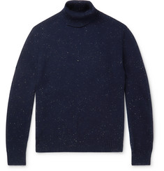 Ermenegildo Zegna Donegal Wool, Silk and Cashmere-Blend Rollneck Sweater