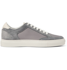 Brunello Cucinelli Leather-Trimmed Suede and Ripstop Sneakers