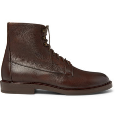 Brunello Cucinelli Full-Grain Leather Boots