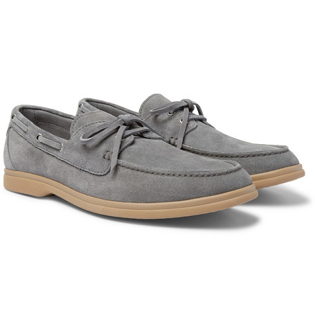 Suede Boat Shoes by Brunello Cucinelli