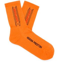 Heron Preston Logo-Jacquard Stretch Cotton-Blend Socks