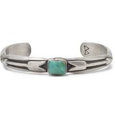 Peyote Bird Sterling Silver Turquoise Cuff