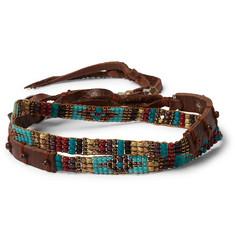 b56310f15f4 Peyote Bird - Multi-Stone and Leather Wrap Bracelet