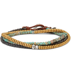 Peyote Bird Bronze, Copper and Sterling Silver Multi-Stone Wrap Bracelet