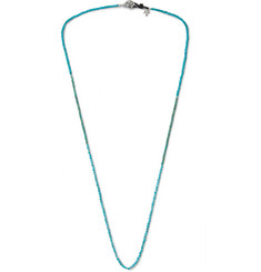 Peyote Bird - Turquoise and Sterling Silver Necklace