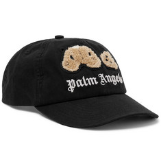 Palm Angels Logo-Appliquéd Embroidered Cotton-Twill Baseball Cap