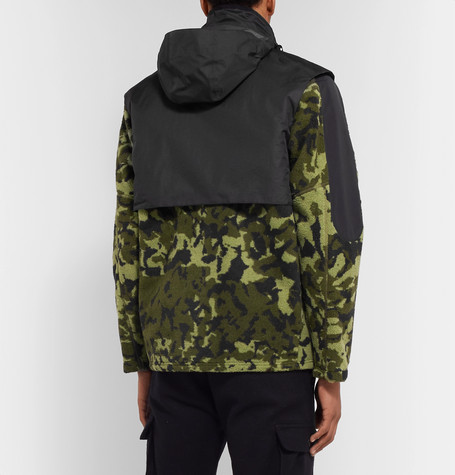 + Matthew Williams Beryllium Camouflage Print Shell Trimmed Fleece Jacket by Nike