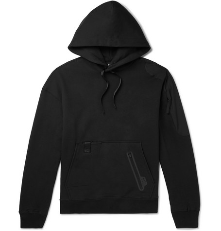 + Matthew Williams Beryllium Fleece Back Cotton Blend Jersey And Shell Hoodie by Nike
