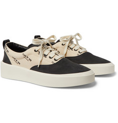 Fear of God 101 Logo-Print Canvas and Nubuck Sneakers