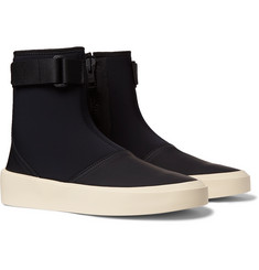 Fear of God Leather-Trimmed Neoprene High-Top Sneakers