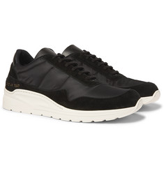Common Projects Cross Trainer Nylon and Suede Sneakers