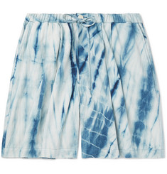 Story Mfg. Wide-Leg Tie-Dyed Organic Cotton Drawstring Shorts