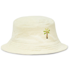 Story Mfg. Embroidered Organic Cotton-Corduroy Bucket Hat
