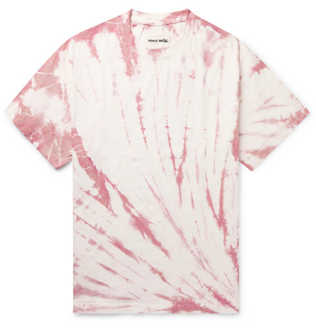 Story Mfg. Grateful Printed Tie-Dyed Organic Cotton-Jersey T-Shirt