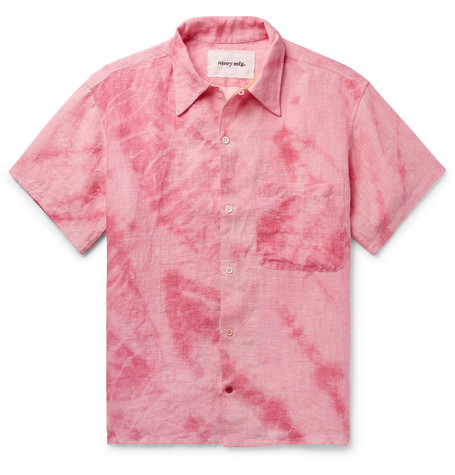 Tie Dyed Organic Linen Shirt by Story Mfg.