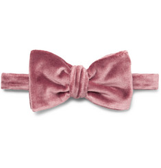 Brioni - Pre-Tied Cotton and Silk-Blend Velvet Bow Tie