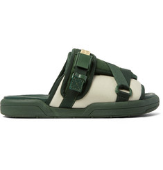 visvim Christo Colour-Block Canvas and Rubber Sandals